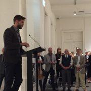 Artist Ben Quilt speaks at the Official Launch