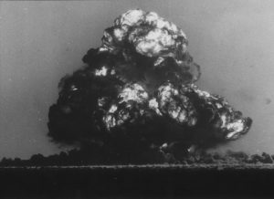OCTOBER 15, 1953 : Fireball from the British atom bomb test explosion at Emu Field, fired from Woomera, 15/10/53. South Australia / Atomic / Nuclear Australia's First Century Historical. OldPixRef: 07637979 OldPixCat: History (Photo by News Ltd / Newspix) Contact Email: www.newspix.com.au Contact Web URL: newspix@newsltd.com.au Contact Email: www.newspix.com.au
